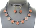 terracotta necklace sets with earrings